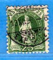 SUISSE ° -1896 - ZUM. 67C  / MI. 59XC.  D. 11-1/2 X 11 / 13 Dents.  2 Scan. Cat. Zum. 2016  € 10.00.    Vedi Descrizione