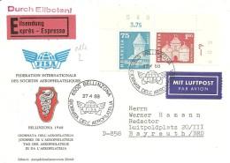 Schweiz, Bauten, 1968, Express-Brief Bellinzona Nach Bayreuth , Siehe Scans!