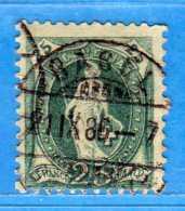 SUISSE ° -1886 - ZUM. 67A  / MI. 58XA.  D. 11-3/4 / 14 Dents.  2 Scan. Cat. Zum. 2016  € 5.00.    Vedi Descrizione