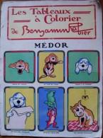 ALBUM BENJAMIN RABIER - LES TABLEAUX A COLORIER - MEDOR - Altri Oggetti Fumetti