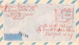 19816. Carta Aerea SALVADOR-BAHIA (Brail)  1963. Franqueo Mecanico - Brasil