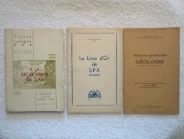 Province De Liège – Verviers Et Spa – éditions 1946 1947 Et 1955 - Rares - Belgique