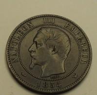 1854 - France - DIX CENTIMES, NAPOLEON III, (W), Tête Nue, KM 771.7, Gad 248 - France