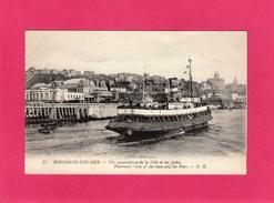 62 PAS DE CALAIS, BOULOGNE SUR MER, Vue Panoramique De La Ville Et Des Jetées, Animée, Bateaux, (N. G.) - Boulogne Sur Mer