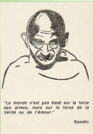 GANDHI. Format 10/15 Voir Verso - People