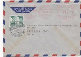 3082    Carta  Aérea Kussnacht Am Rigi  1955 Suiza