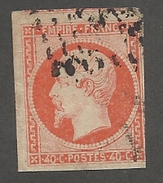 FRANCE - N°YT 16 OBLITERE AVEC DEBUT DE VOISIN COTE NORD - COTE YT : 20€ - 1853