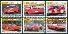 2001 Sierra Leone Ferrari Trasporti Transport Automobili Cars Voitures Set MNH** Sie49