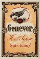 Magnifique Etiquette Liqueur Fijne HET SIJSJE Spiritueux 1950's Mooi Likeur Genever Etiket Desmet Maertens Rumbeke - Etiquettes