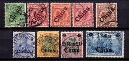 Chine Allemande  Petite Collection Entre 1897 Et 1900. Bonnes Valeurs. B/TB. A Saisir!