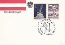 Olympic: Austria Card P/m Wien 1984 Olympische Bewegung 90 Jahre (G86-53) - Olympic Games