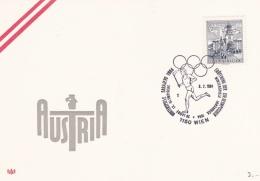 Olympic: Austria Card P/m Wien 1984 OlympicWinter Games Sarajevo 1984 (G86-53) - Winter 1984: Sarajevo