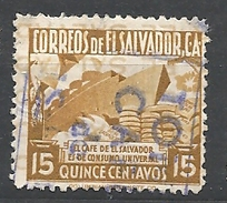 EL SALVADOR   1935 Local Motives EL CAFE   USED