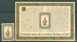 VN Genève 1988  Mi/Yv MNH  171**, Bl 7** (172**)   Cat. Yv. € 5,90