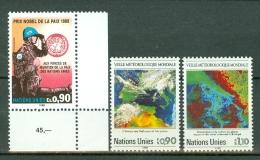 VN Genève 1988  Mi/Yv MNH  175**, 176/177**   Cat. Yv. € 6,90