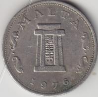 @Y@  Malta   5  Cents    1976     (3387) - Malta