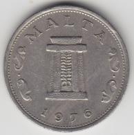 @Y@  Malta   5  Cents    1976     (3388) - Malte