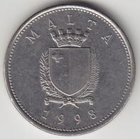 @Y@  Malta   10  Cents    1998     (3390) - Malta