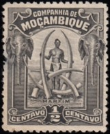 MOZAMBIQUE Company - Scott #110 Man & Ivory Tusks / Used Stamp - Mosambik