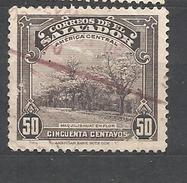 EL SALVADOR  1939 Local Motives MAQUILISHUAT EN FLOR  The Pink-tufted National Tree  USED