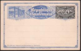 3 Centavos Classic Postal Stationery Card, République De Guatemala  1897