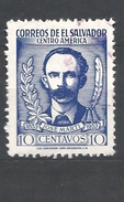 EL SALVADOR  1953 The 100th Anniversary Of The Birth Of Jose Marti, 1853-1895  USED