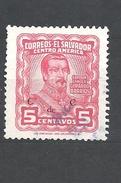 EL SALVADOR 1953 Generals - Overprinted C De C  General Gerardo Barrios    USED