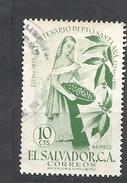 EL SALVADOR  1956 Airmail - The 100th Anniversary Of Santa Ana    USED