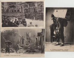 3 OLD PCS, SALONIQUE,SALONIKA,SOLDIERS,CONCERT,PLACE DE LA LIBERTIE,BOMB DAMAGE,1917 - Griechenland