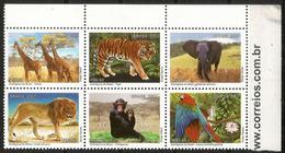 Les Parcs Zoologiques Du Brésil. 6 Timbres Neufs ** Année 2007