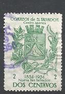 EL SALVADOR  1957 The 100th Anniversary Of Nueva San Salvador City COAT OF ARMS  USED