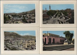 11 OLD PCs, DAMASCUS,SYRIA, SQUARE OF THE GUNS,VICTORY AVENUE,MOSQUE,MUSEUM,ETC,1960s? - Syrien