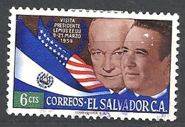 EL SALVADOR   1959 Visit Of President Lemus To U.S   USED