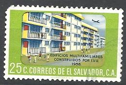"""EL SALVADOR  1960 """"I.V.U."""" Building Project   USED"""