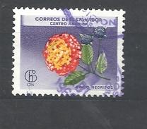 EL SALVADOR 1965 Flowers     USED