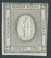 1861 REGNO FRANCOBOLLO PER STAMPATI 1 CENT SENZA GOMMA - CZ31-4
