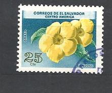 EL SALVADOR 1965 Airmail - Flowers SAN JOSE     USED