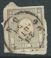 1861 REGNO USATO FRANCOBOLLO PER STAMPATI 1 CENT - CZ31-10