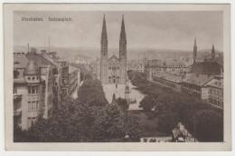 CPA ALLEMAGNE WIESBADEN Louisenplatz Kath Kirche - Wiesbaden