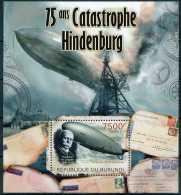 D- BURUNDI 2012 - 75 Ans De La Catastrophe De Hindenburg, Zeppelin