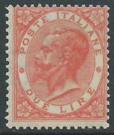 1863-65 REGNO EFFIGIE 2 LIRE TORINO MNH ** - Y172