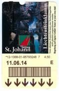 Ticket Eintrittskarte St.Johann Im Pongau Liechtensteinklamm 2014 Salzburg Sankt Biglietto Entrada Kaartje Bilet Klamm - Eintrittskarten