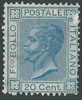 1867 REGNO EFFIGIE 20 CENT TORINO DIFETTOSO SENZA GOMMA - Y172