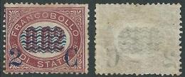1878 REGNO SOPRASTAMPATO 2 SU 2 CENT SENZA GOMMA - Y172
