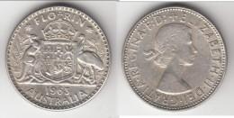 **** AUSTRALIE - AUSTRALIA - 1 FLORIN 1963 - ONE FLORIN 1963 - ARGENT - SILVER **** EN ACHAT IMMEDIAT !!! - Monnaie Pré-décimale (1910-1965)