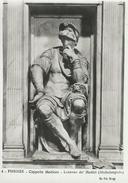 Firenze  Cappelle Medicee.  Lorenzo De Medici  (Michelangelo)   # 05217 - Sculpturen
