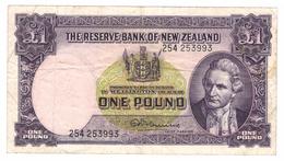 New Zealand - 1 Pound 1956-60 - Pick 159c . VF. Free Economic Ship. To USA - New Zealand