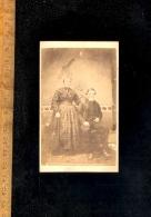 Photographie CDV Victorian Photography Couple / Photographer E PULMAN 24 High Street MERTHYR (Tydfil Wales) - Foto