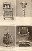 4 Cartes, Tsar Alexis Mikhailovitch, Fauteuil, Sceptre, Trône En Diamants, Globe (croix Rouge - Russie