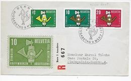 LST  -- Suisse  Bern  à  Plainpalais  --- Beau Timbrage   -- Y.T. 622 / 623 Non Dentelés -- Vignette -- 1959 --T. B.E...